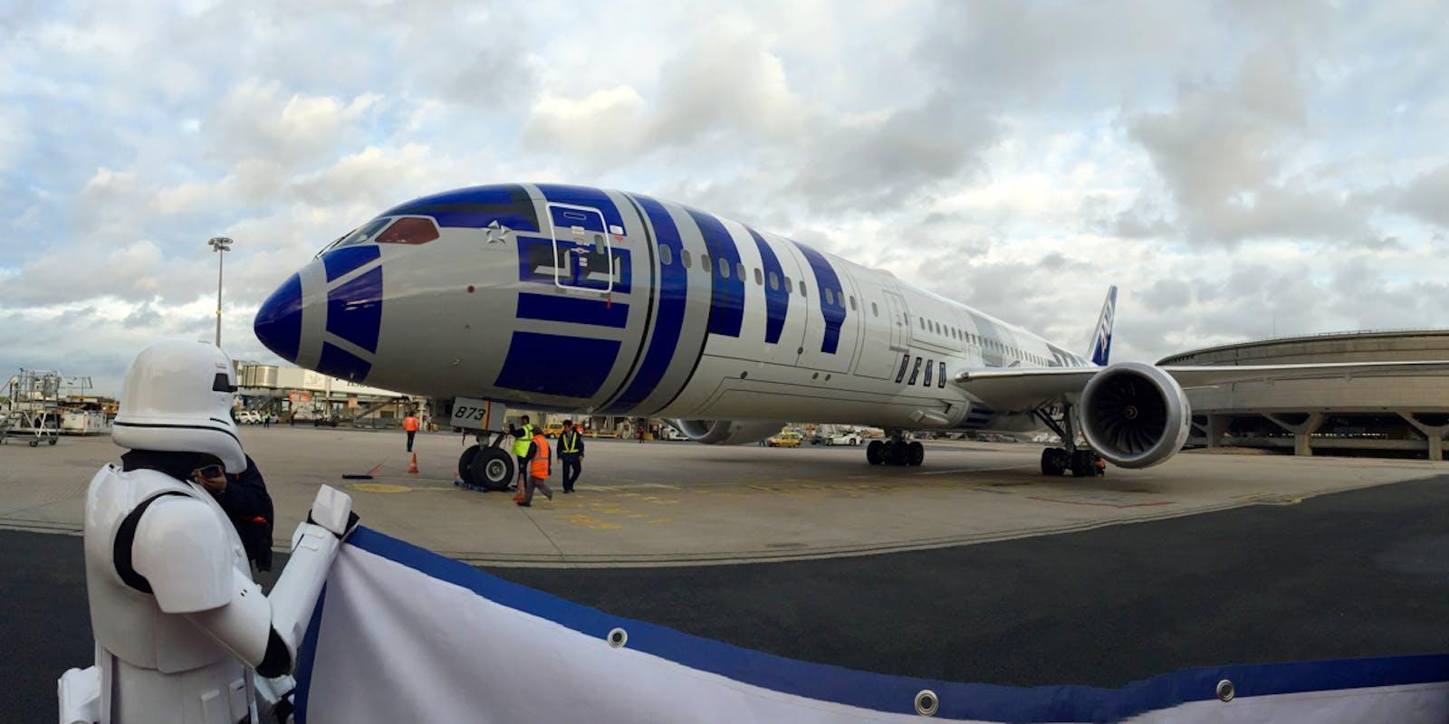 ANA et Aéroport de Paris accueillent le vol R2D2